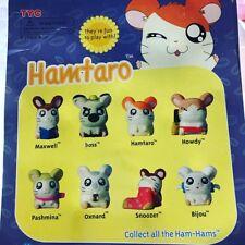 Gacha Tyc Tomy Nintendo Anime Hamtaro Hamster Figure Complete Set 8 pc