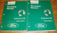 Original 2004 Lincoln LS Shop Service Manual Volume 1 & 2 Set 04