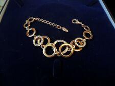 white stone bracelet rose gold plated