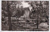 Ansichtskarte Bad Wörishofen - Kneippheilbad - Springbrunnen im Kurpark - s/w