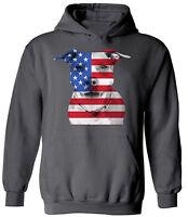 USA Flag Pitbull Unisex Hoodie Sweatshirt USA Flag 4th of July Pitbull