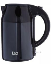 Epica Electric Kettle w/ Stay-Cool Exterior, Stainless Interior 1.8 Quart BLACK
