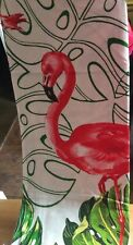 """Pier 1 """"Flamingo"""" Shower Curtain (Palm Leaves And Pink Flamingos - New"""