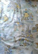 Rare Vintage Charming Nursery Rhymes Fabric Remnant 95 x 65 cm