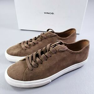 Vince Farrell 3 Mens Casual Shoes Cigar Brown Canvas Corduroy Sneakers Size 9.5