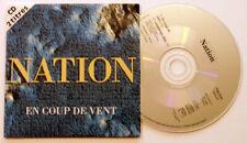 """NATION """"En coup de vent"""" CD 2 titres/pochette cartonnée 1994"""