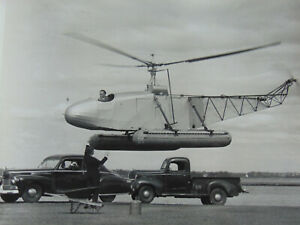 FOUR VINTAGE PHOTOGRAPHS of SIKORSKY PROTOTYPE AIRCRAFT INCLUDING HELICOPTER