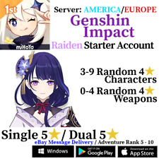 [America/NA/Europe/EU/Asia/AS] Genshin Impact Baal Raiden Shogun Starter Account