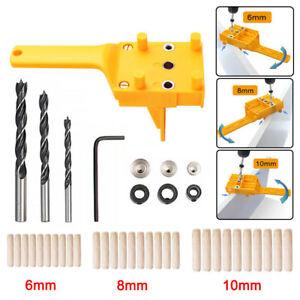 Holzbearbeitung Handheld Bohrlehre Dübel Bohrschablone Bohrloch Jig Bohrhilfe