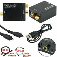 Pro Coaxial Toslink Digital to  Analog Audio  Converter Adapter RCA R/L Cable