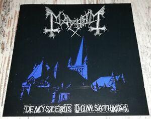 MAYHEM De Mysteriis Dom Sathanas CD 1994 DEATHLIKE SILENCE PRODUCTIONS No Ifpi