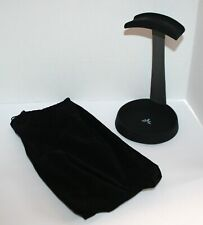 Steel Headphone Stand Hanger with Cable Holder Black & Gray plus Storage Bag