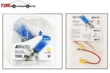 NOKYA Halogen Light Bulbs+Wire Harnesses H1 Arctic White 7000K S2 80W