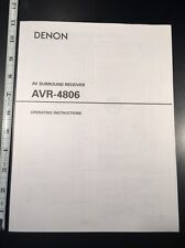 Denon AVR-4806 AV Receiver Original Owners Manual 149 Pages