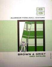 BROWN & GRIST Catalog Cemesto ASBESTOS Curtain Walls Building Panels 1960's