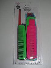 Kit Ensemble x12 Peigne Couleur et Taille Mix Cheveux Coiffure Comb Set NEUF