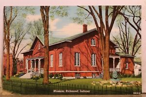 Indiana IN Richmond Museum Postcard Old Vintage Card View Standard Souvenir Post
