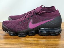 Nike Air Vapormax Flyknit Té Fresa Púrpura Negro para Mujer Talla 12 Raro 849557-605