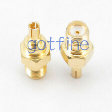 CRC9 male plug to SMA female jack straight RF connector adapter