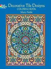 Dover DECORATIVE TILE DESIGNS Adult Coloring Book Marty Noble Fine 2006