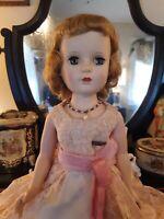 """Vintage Madame Alexander Doll 17"""" Margaret Hard Plastic"""