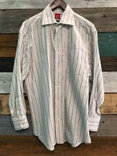 Men's Oscar de la Renta L Long Sleeve Button Up Striped Shirt