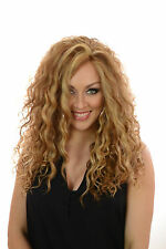 Rebekah | Long Thick Spiral Curly Lace Front Wig | Natural Hightlighted Balayage