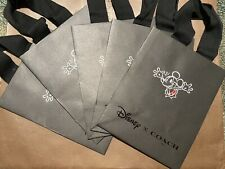 New 5 Coach Disney Mickey Shopper Gift Paper Bag Tote Wallet 9.75 X 7.75 X 4.75
