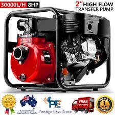 "Warton 8HP 2"" Petrol High Flow Water Transfer Pump Irrigation 30,000L/h Pressure"