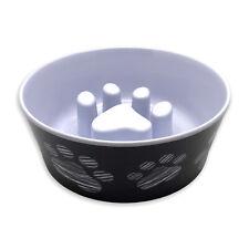 Top Paw Slow Feeder Dog Bowl Dish Melamine No Slip