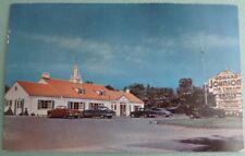 Erie Pennsylvania Postcard Vintage Howard Johnson's Restaurant c1940's Cars PA