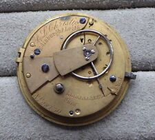 Fusee pocket watch movement for repair, R.L.Christie Edinburgh & Leith, 41mm,