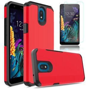For LG Journey LTE (L322DL),LG K40 Shockproof Hybrid Case Cover/Screen Protector