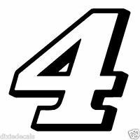 """4"""" Kevin Harvick New Number 4 Window Decal Vinyl Sticker 2 color Stewart Haas"""