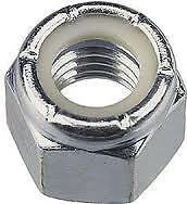 """3/4"""" UNF NYLOC NUTS ZINC PLATED PACK OF 6"""