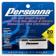 NEW Personna Mini Hair Shaper Blades 20pcs w Dispenser 4 ur Hess Straight Razor!