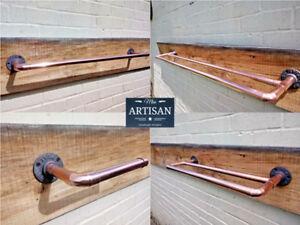 Copper Pipe Towel Rail - Double / Single Rails - Rustic / Vintage / Industrial