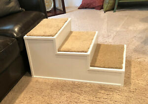 """Pet / Dog Steps (27""""L x 17""""W x 14""""H) Custom Built to Order / Solid Wood / Couch"""
