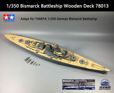 TAMIYA 1/350 German Bismarck Battleship Wooden Deck 78013