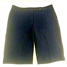 NWT Trina Turk Navy Blue Midi Flat Front Size 6 Walking Bermuda Shorts