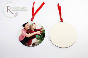 Personalised Photo Christmas Family Tree Bauble Santa Gifts Plaque Decoration