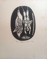 Engraving by Eduardo Guerra Hernandez,  ̈Souvenir ̈, original signed
