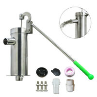 Stainless Steel Manual Water Pump Hand Shake Suction Pump for 32mm Diameter Pipe