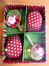 24 Standard Size Christmas Cupcake Liners & Toppers IT'S THE SEASON TO BE JOLLY