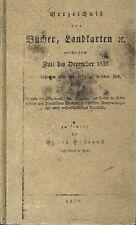 Heckenast Verzeichnis der Bücher Landkarten neu erschienen Juli bis Ende 1836