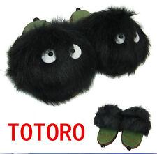 "My Neighbor Totoro 10"" Dust Bunny Plush Slipper Black Adult New Anime Gift"
