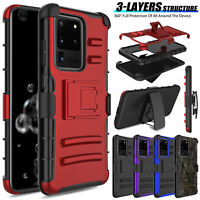 For Samsung Galaxy Note 20 Ultra S20+ Case Hybrid Shockproof Holster Stand Cover