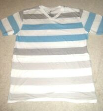 OP Men's short sleeve STRIPED V-neck t-shirt size Small