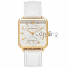 Michael Kors Authentic Watch MK2677 Brenner White Leather Women's 31mmx31mm
