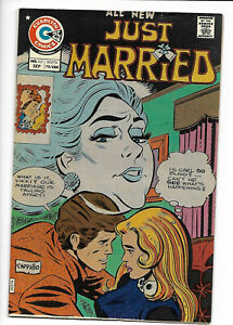 Just Married #107 Charlton romance 1975 FN 6.0 Art Cappello cover.